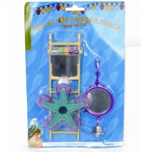 Zestaw zabawek dla ptaka marki HappyPet